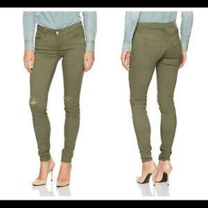 Levis 535 Super Skinny Green Distressed Jeans